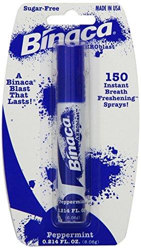 Binaca Aerosol Breath Spray PepperMint 0.20 oz (Pack of 4)