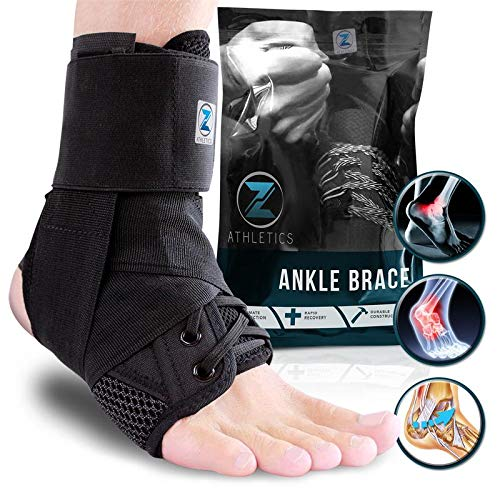 Zenith Ankle Brace, Lace Up Adjustable Support – for Running, Basketball, Injury Recovery,...