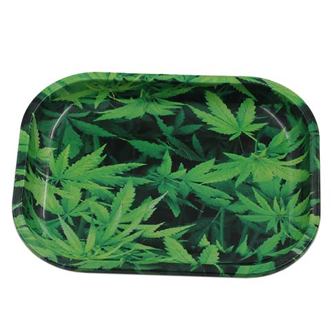 IXIGER Rolling Tray,Full Metal Rolling Tray 7X 5.5Inch(Green)