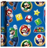 SUPER MARIO THEME GIFT WRAPPING PAPER 20 sq ft.(1 Roll)