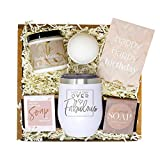 Birthday Gifts for Women - Best Relaxing Spa Gift Box Basket for Wife Mom Sister Girlfriend Best Friend Mother - Bday Bath Set w/Tumbler - Gifts Basket Care Package Present for Her Happy Birthday