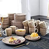 vancasso Tafelservice Steingut, Bella 48 teilig Geschirrset, handbemaltes Kombiservice Set, Marokko Stil, handbemalt für 12 Personen - 8
