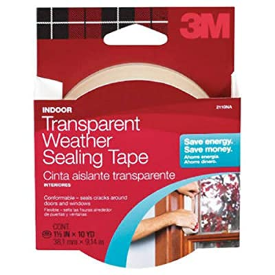 3M 2110NA Interior Transparent Weather Sealing, 1.5-Inch by 10-Yard 1-1/2x30 WTHRPF Tape, 1 Pack