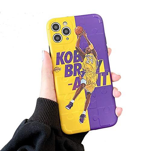 JZWDMD Funda para iPhone 11 Pro MAX Kobe Bryant Lakers 24 Basket Sport, Funda de Silicona Ultrafina Funda Protectora de TPU para iPhone 11 Pro MAX,B,iPhone 11 Pro