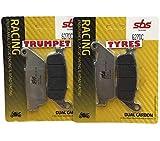 Triumph America 900 07 08 09 10 11 12 13 14 15 16 SBS Rendimiento Delante Doble Carbono Carrera Pastillas de Freno Calidad Sistema OE 627dc