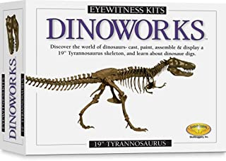 "Skullduggery Eyewitness Kits Perfect Cast Dinoworks 19"" Tyrannosaurus Rex Cast, Paint, Display and Learn Craft Kit"