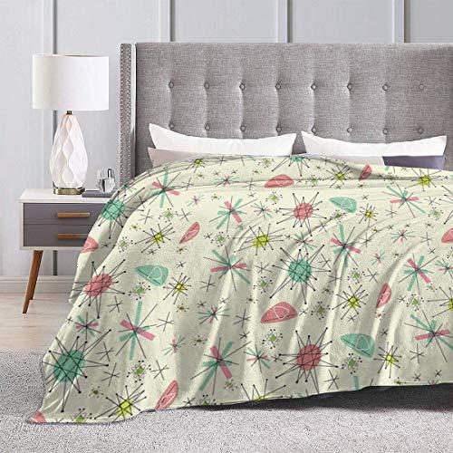 maichengxuan Atomic 50s Ultra-Soft Micro Fleece Blanket 60'x50'