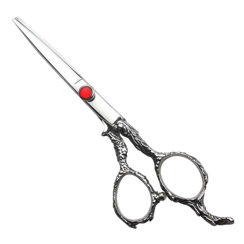 実験落ち着かないしっかりGoodsok-jp 6インチ理髪はさみセット家族の散髪ツール (色 : Silver)