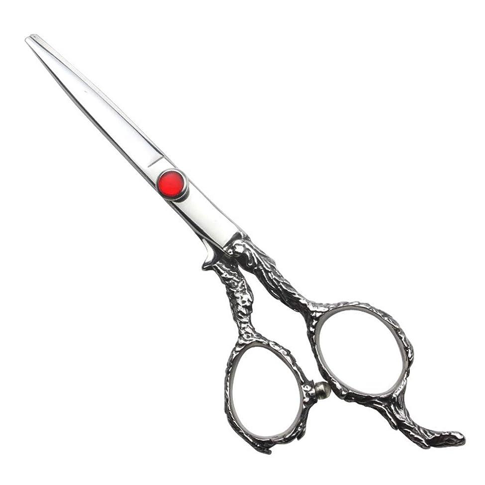 条約予測子図理髪用はさみ 6インチ理髪はさみセット、家族の散髪ツールヘアカット鋏ステンレス理髪はさみ (色 : Silver)