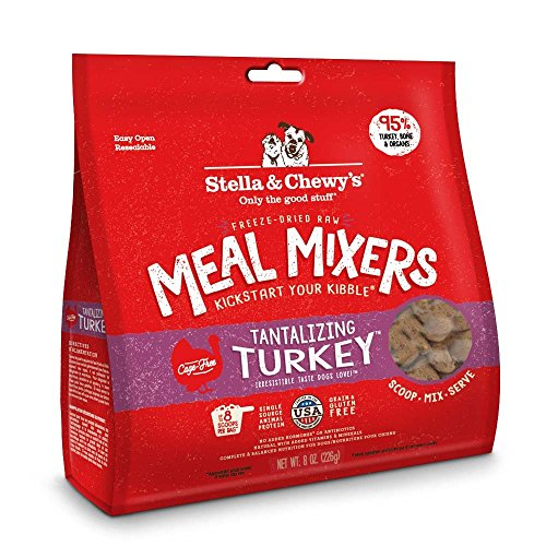 Stella & Chewy's Freeze-Dried Raw Tantalizing Turkey Meal Mixers Dog Food Topper, 8 oz. Bag