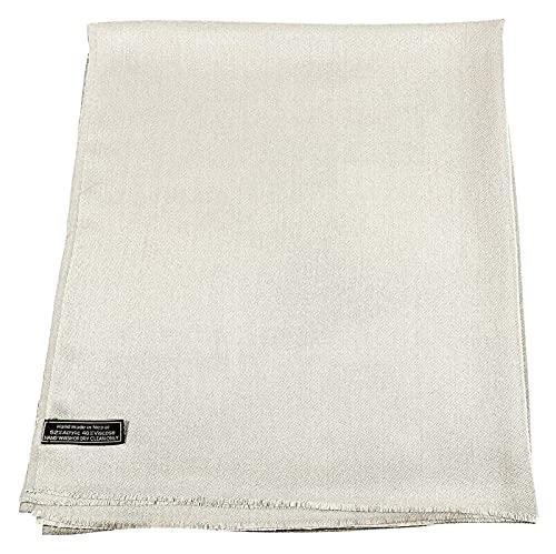 Lzpzz CJ Apparel enfärgad design nepalesisk frans sjal sekunder halsduk stal kasta huvudsjal ansikte skydd pashmina kräm, S: En storlek