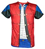 Photo de SD Toys Marty Mcfly, T- T-Shirt Homme, Rouge (Roja Sdtuni20510), L