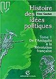HISTOIRE DES IDEES POLITIQUES. Tome 1, De l'Antiquité à la Révolution française (U Droit)