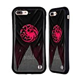 Official HBO Game of Thrones Targaryen Sigil Flags Hybrid Case Compatible for iPhone 7 Plus/iPhone 8 Plus