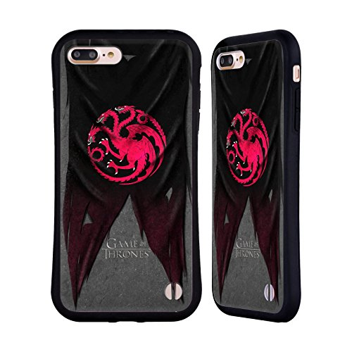 Head Case Designs Officially Licensed HBO Game of Thrones Targaryen Sigil Flags Hybrid Case Compatible with Apple iPhone 7 Plus/iPhone 8 Plus