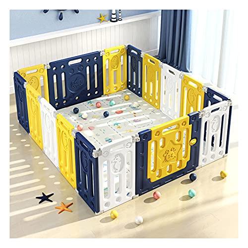 Baby Playpen, Juegos De Juego Con Panel De Actividades Niños Centro De Actividades Para Niños 14 + 2 Panel De Seguridad Jardín De Seguridad Bebé Cerca De Bebé Inicio Interior Al Aire Libre...