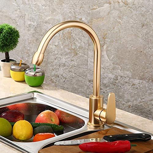YO-TOKU Moderne huishoudelijke badkamer Wash mengkraan Gold Kitchen Sink kraan rvs spoelbak warm en koud water Mixer Beautiful praktische Kraan voor Badkamer Home Decoration