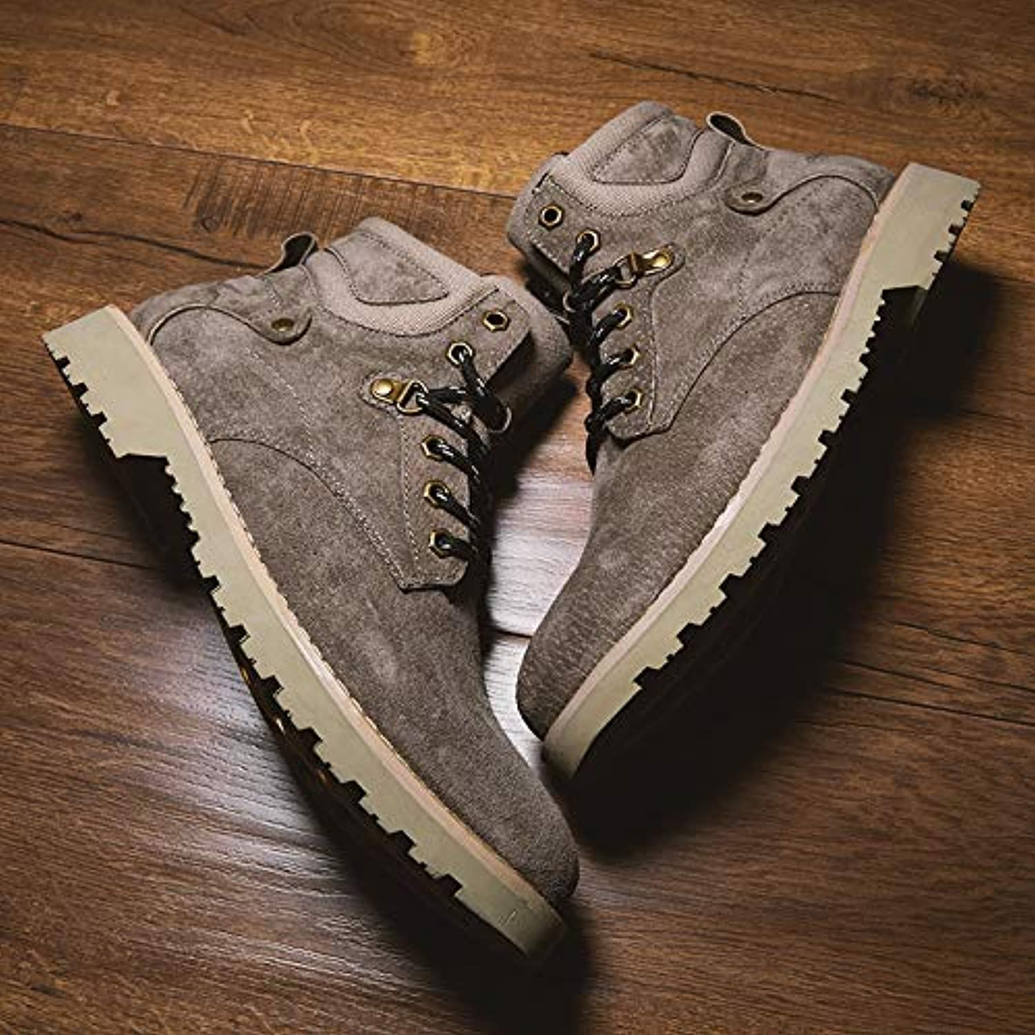 LOVDRAM Men'S shoes Martin Boots Men'S Leather Desert Tooling Men'S shoes Fashion Men'S Boots New Military Boots High Help Autumn