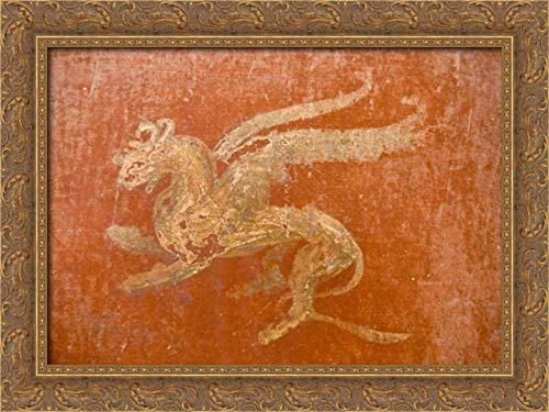 Kaveney, Wendy 40x28 Gold Ornate Framed Canvas Art Print Titled: Italy, Pompeii Gryphon in Fullery of Stephanus