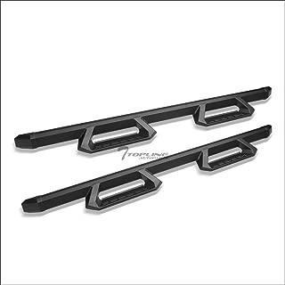 Topline Autopart Matte Black Aluminum Hoop Drop Step Side...