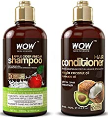 Repair damaged hair WOW shampoo and conditioner set uses virgin coconut and avocado oil to rejuvenate weak, thin, or damaged hair or dry scalp. The formulation of both oils replenish lost nutrition that's vital in keeping strong, smooth hair. Clarify...