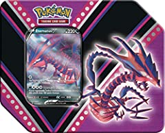 1 of 3 foil Pokémon V: Eternatus V, Pikachu V, or Eevee V! 5 Pokémon TCG booster packs A code card to unlock a promo card in the Pokémon Trading Card Game Online