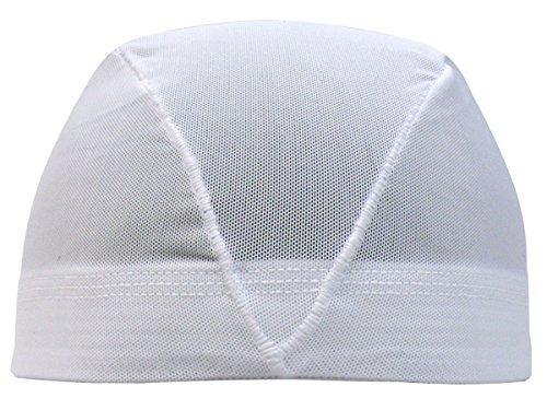 アスナロ(帽子・キャップ) 水泳帽 子供 メッシュ キッズ ジュニア 無地LL(58-63cm) 白