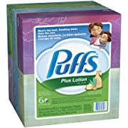 Puffs Plus Lotion Facial Tissues, 68-Count (Pack of 6)