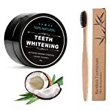 Charcoal Teeth Whitening Powder,Organic Coconut Activated Charcoal Teeth Whitening, Organic Safe Effective Whitener Solution for Stronge(with Bamboo Toothbrush)