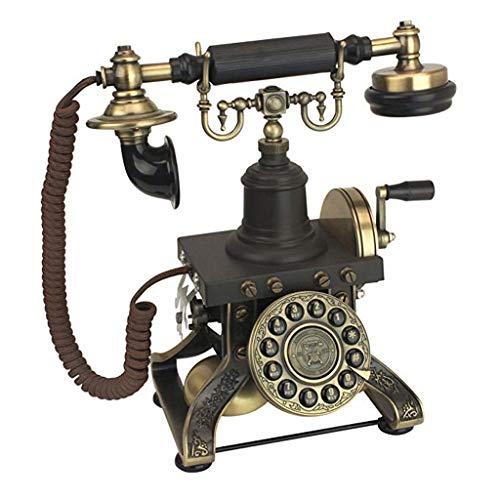 ZHY Teléfono Antiguo - Teléfono Giratorio de la Torre Eiffel 1892 - Teléfono Retro con Cable - Teléfonos Decorativos Vintage (Color : A)