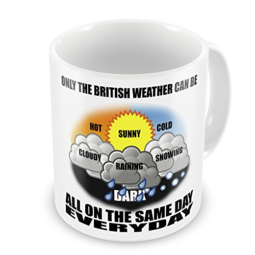 British Weather Funny Novelty Gift Mug