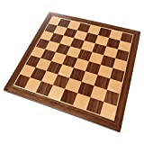 Chronos Chess Board with Inlaid Walnut Wood, Small 11 x 11...