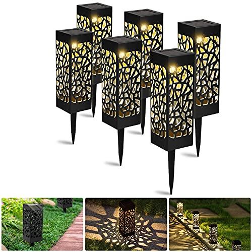 Lampada Solare da Giardino Luci Solari Esterno, 6 pezzi Giardino Lampade Luci Solari per Giardino da...