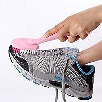 huafengsc Zapato Cepillo Zapato Cepillo cerdas Mango Largo plástico Limpieza Cepillo Zapatillas Lavar Zapatos Cepillo Doble Cabeza lavandería Cepillo Zapatos Cepillo Azul Claro, Rojo