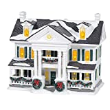 Department 56 Original Snow Village Christmas in The Mansion Lit Building, 7.8 Inch, Multicolor
