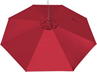 BenefitUSA Replacement Umbrella Canopy for 10ft 8 Ribs (Canopy Only) (Burgundy)
