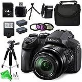 Panasonic LUMIX DMC-FZ300K 4K FZ300, Point and Shoot Camera with Leica DC Lens 24X Zoom, (Black) + 64GB SD Memory Card + Card Reader & Deluxe DigitalAndMore Accessory BUNDLE