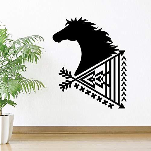 hetingyue Art plakaat Peilpaard muursticker papier hal van de kunstwoonkamer etnische