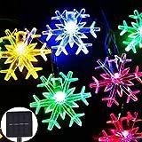 HFFFHA Lampadina ad energia Solare 4,8 Metri 20 luci Fiocco di Neve Decorazioni Natalizie Forniture di Natale Forniture di Illuminazione Stringhe