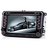 iFreGo - Radio de coche de 7 pulgadas y 2 Din para VW Golf 5/6 Tiguan EOS Caddy Polo Jetta, radio de coche, navegación GPS, reproductor de DVD y CD, radio compatible con Bluetooth, Windows CE 6.0