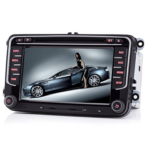 iFreGo 7 Zoll 2 Din Autoradio Für VW Golf 5/6,Für Tiguan,Für Caddy Für Polo, Autoradio GPS Navigation,DVD CD Player,Autoradio DAB+, Autoradio Bluetooth,Windows CE 6.0