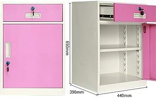 Armoire de bureau Classeur de documents Armoire de rangement mobile en fer grande capacité avec tiroir push-pull et verrou...