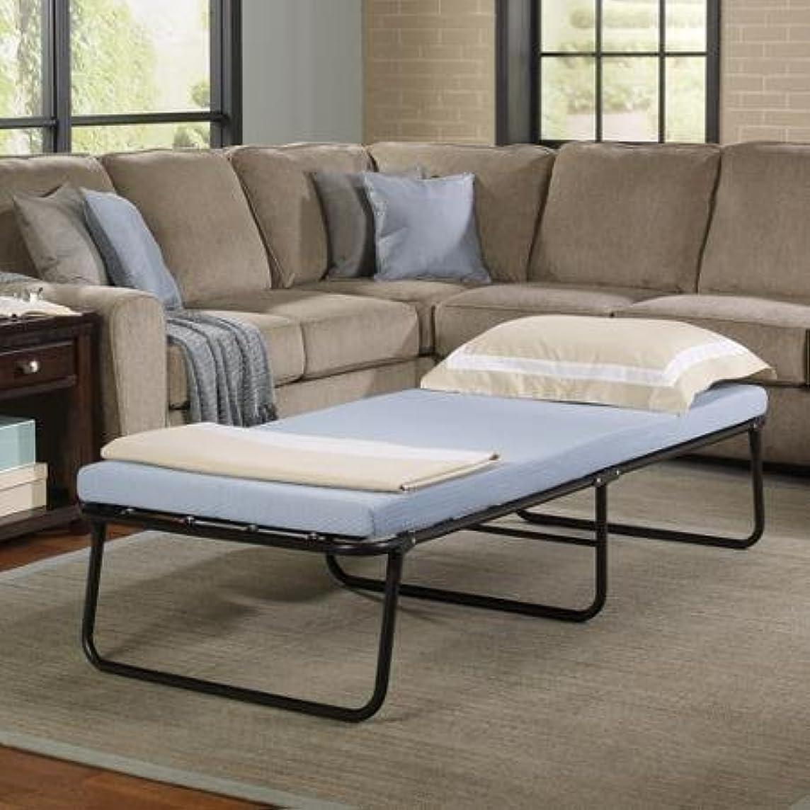 Simmons Foldaway Folding Bed Cot with Memory Foam Mattress