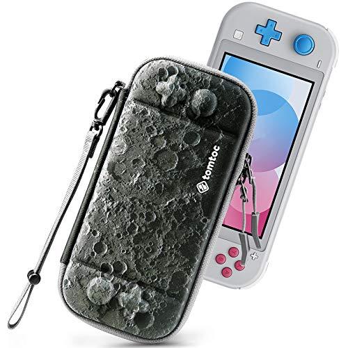 tomtoc Funda Delgada para Nintendo Switch Lite, Patente Original Estuche Rígido con Espacio para 8 Tarjetas de Juegos, Funda Dura de Transporte con Proteción de Estándar Militar, Luna