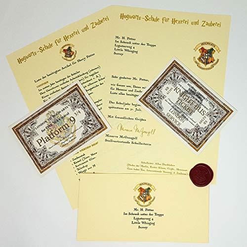 Planets For Sale Harry Potter Hogwarts Geschenk im Hogwarts-Stil - Angepasste Aufnahmemitteilung für jedes Alter - Schneller Versand - EIN toller Spaß für die Hexe oder den Zauberer in Ihrem Leben!