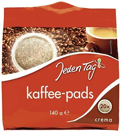 Jeden Tag Kaffeepads, Crema, 140 g
