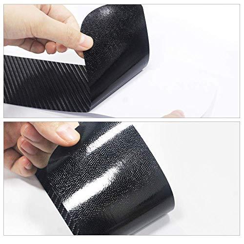 Longzhimei 4D Carbon Fiber Texture Door Sill Protectors Car Sill Guard Protector Sticker Door Sill Scuff Plate for Hyundai i10 i20 i30 4Pcs
