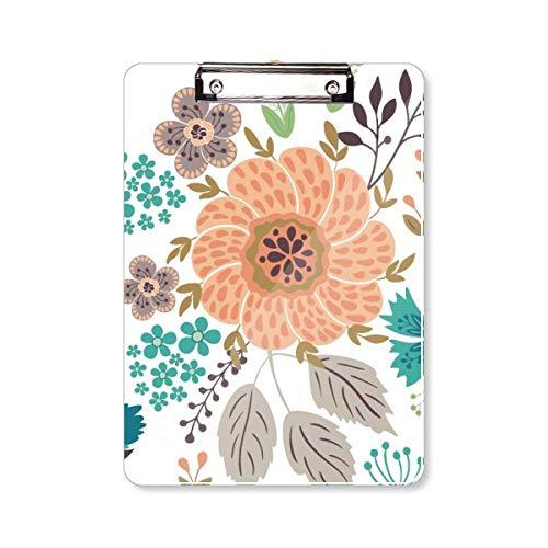 Zon Oranje Bloem Plant Verf Klembord Folder Schrijven Pad Achterplaat A4