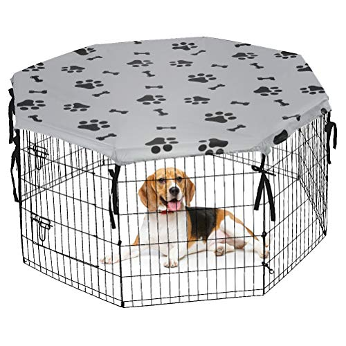 Dog Playpen Cover for Indoor & Outdoor - Water Proof & UV Resistant Pet Crate Cover, Escape Proof...