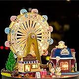 Emoshayoga Accesorios y Muebles Caja de música Casa en Miniatura Casa de muñecas Juguete con Cubierta Transparente Niños para el hogar Regalo de cumpleaños(Ferris Wheel)